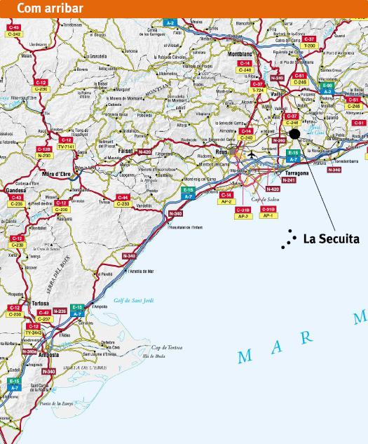 Situació de La Secuita al mapa
