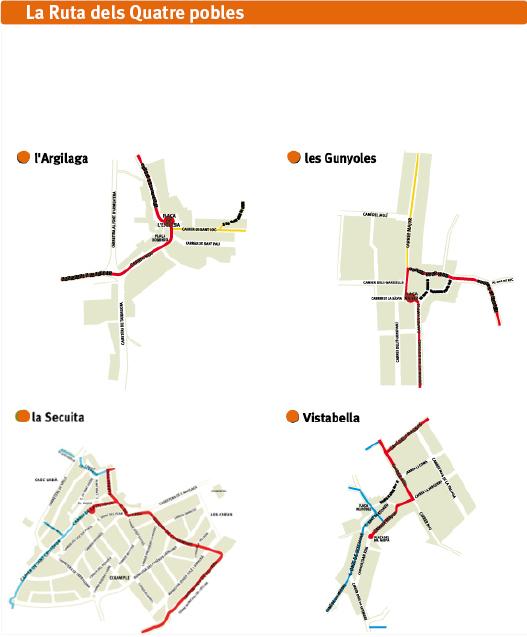 La ruta dels 4 pobles - detall